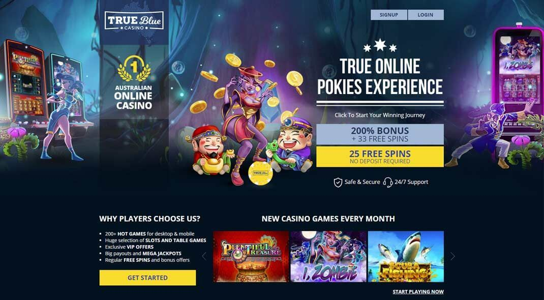 True Blue Online Casino review