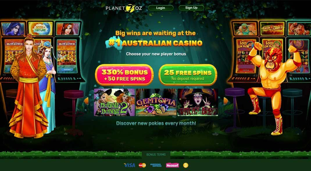 Planet Oz Online Casino review