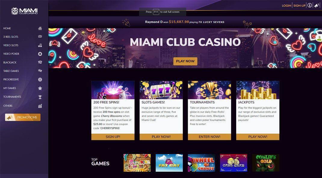 Miami Club Online Casino review