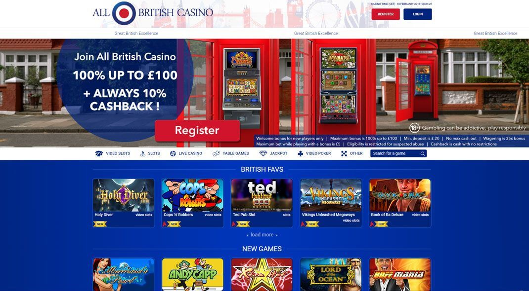 All British Online Casino review