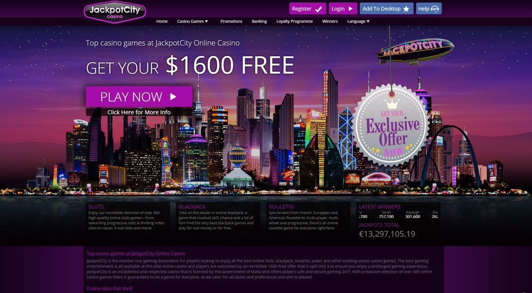 Jackpot City Online Casino review Canada