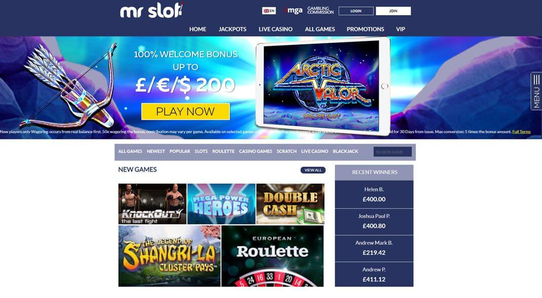 Mr. Slot Online Casino review