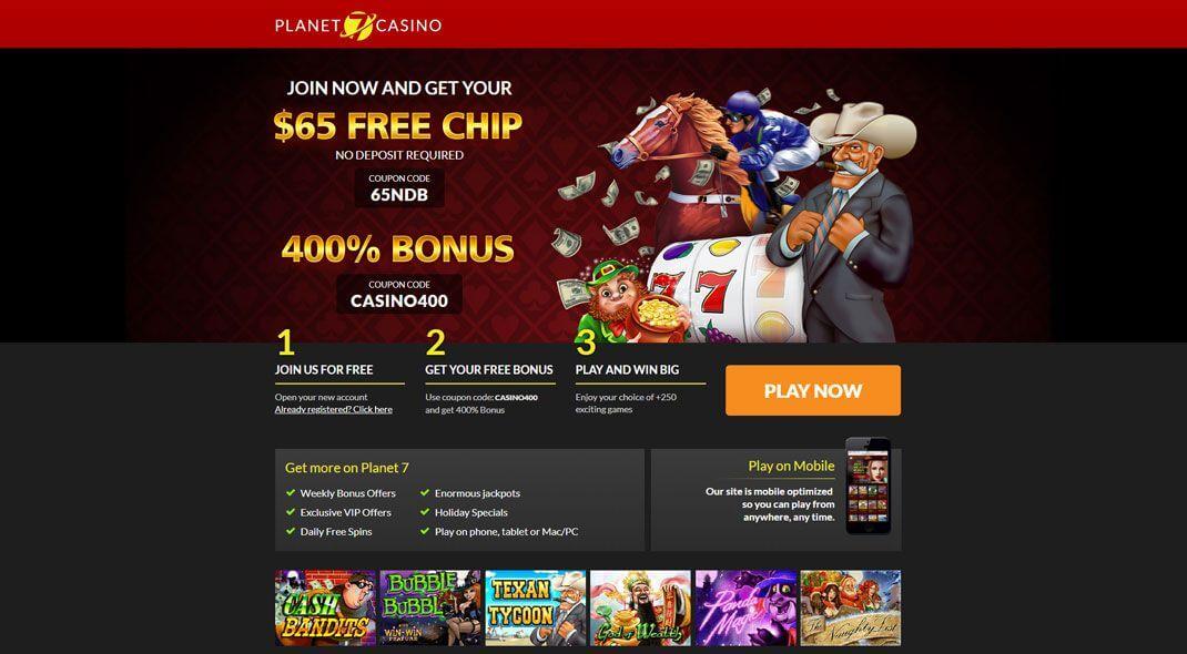 Planet 7 USA Online Casino review