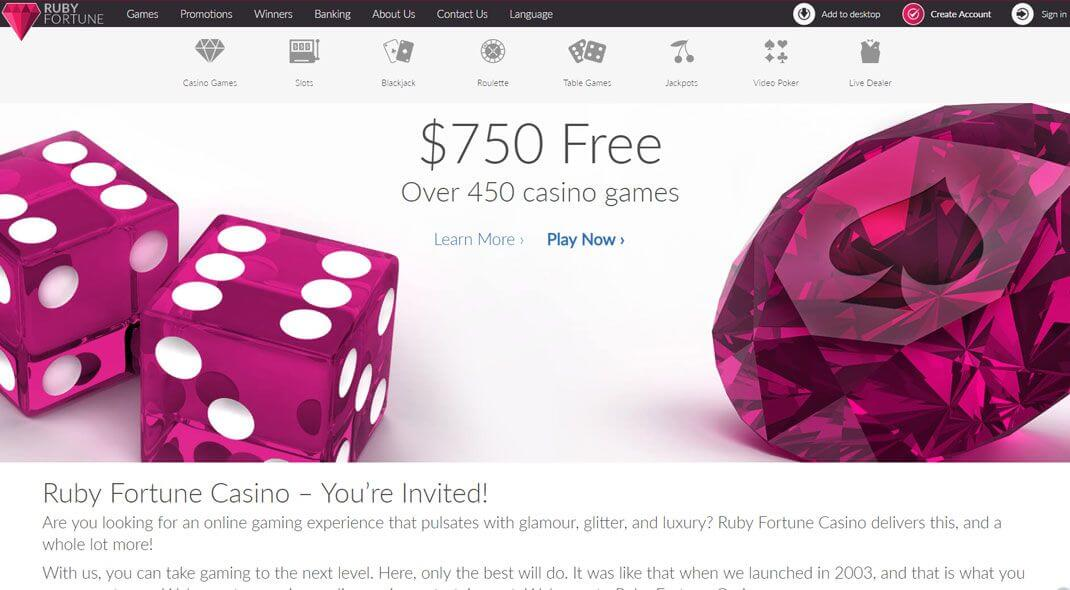 Ruby Fortune Online Casino review Canada