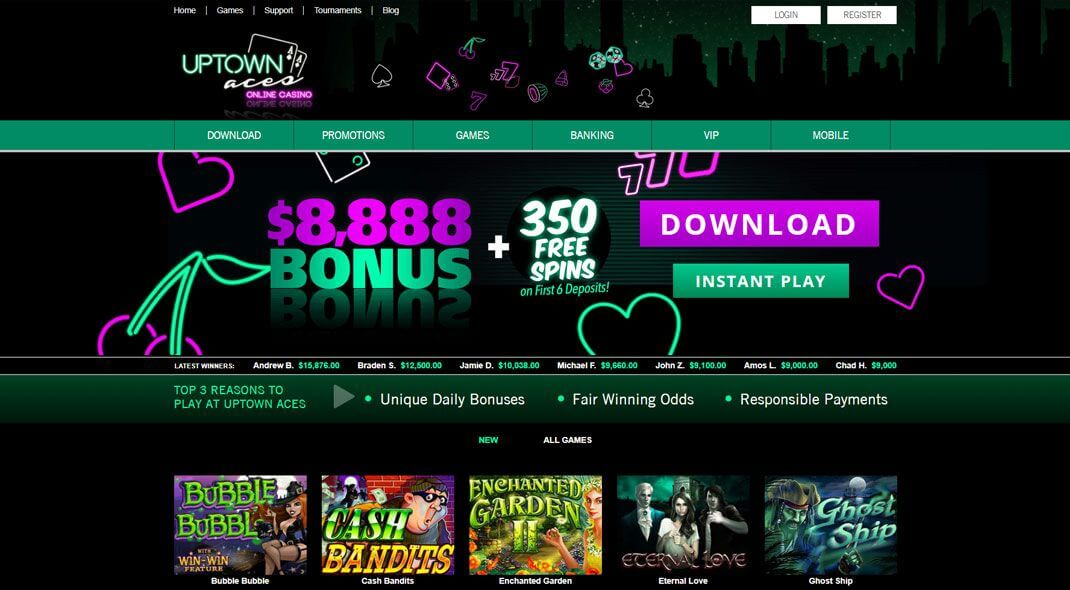 Uptown Aces Online Casino review