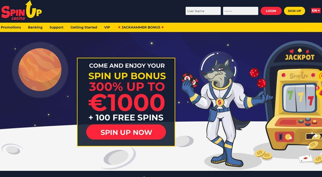 Top UK SpinUp Casino review