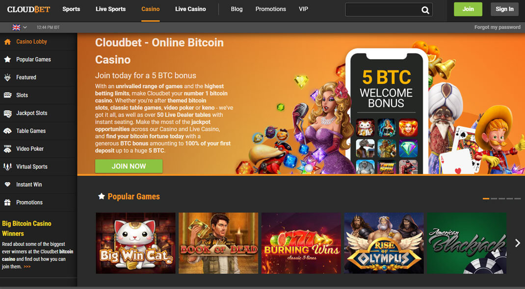 Cloudbet Online Casino review