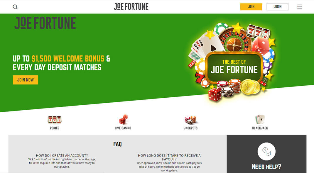 Joe Fortune Online Casino review