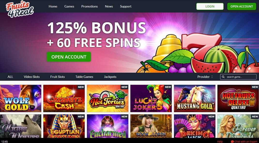 Fruits4Real Online Casino review