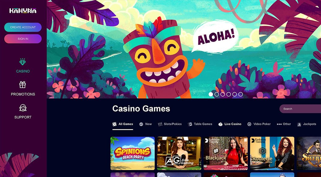 Kahuna Online Casino review