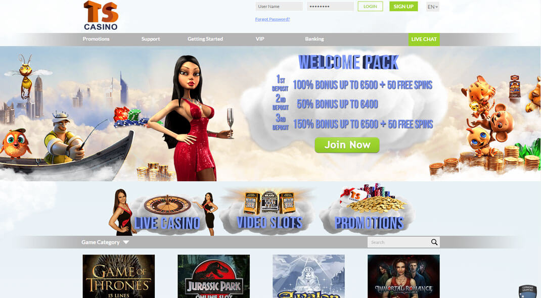 TS UK Online Casino review