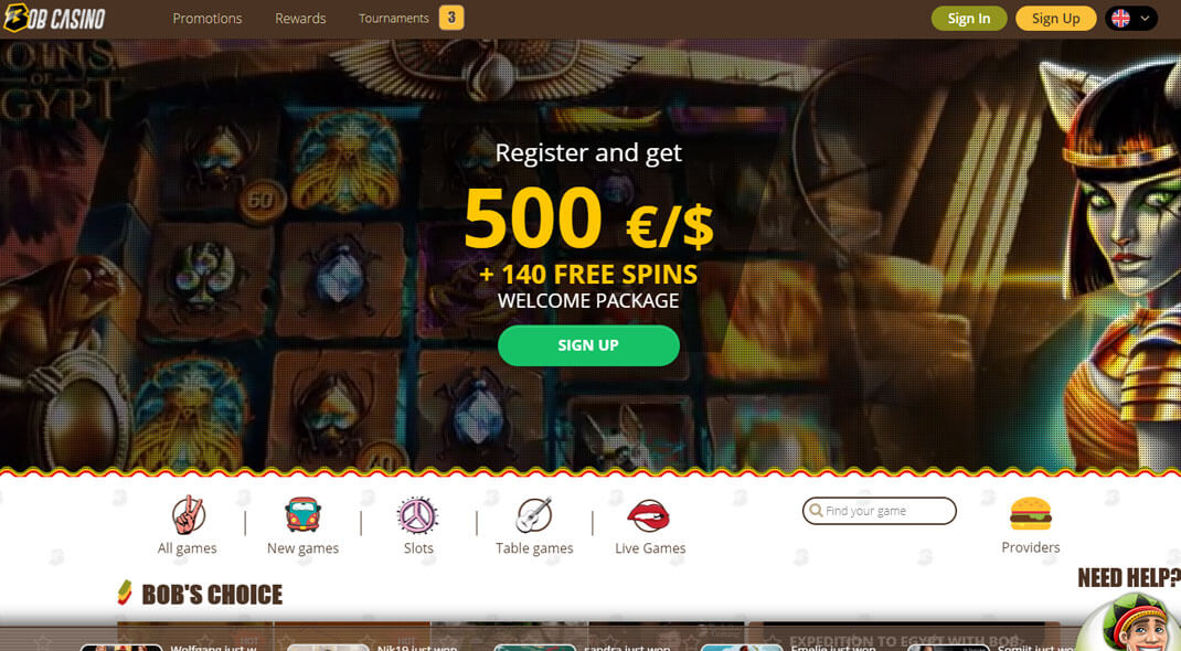 Bob Online Casino review