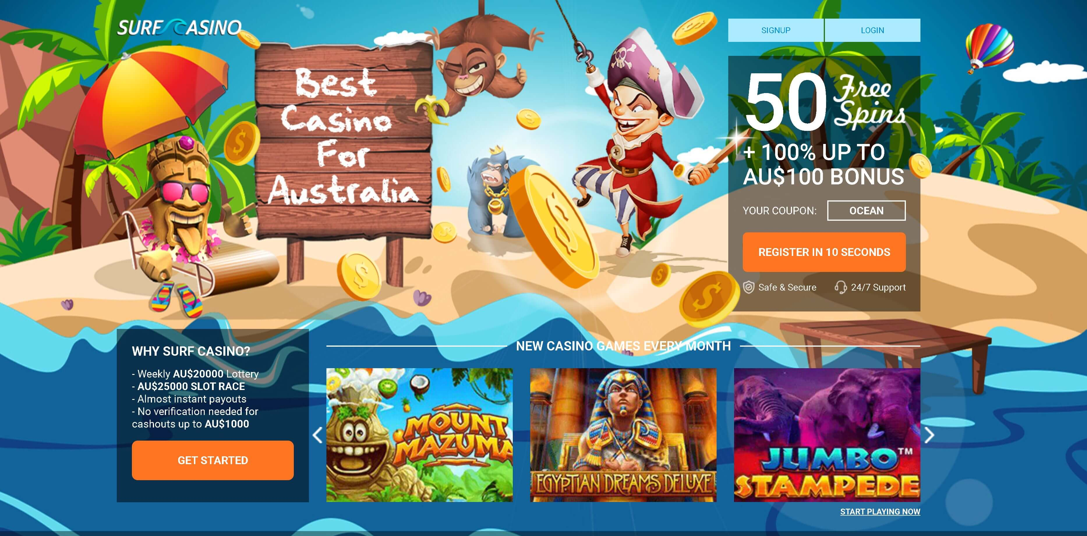 Surf Online Casino review