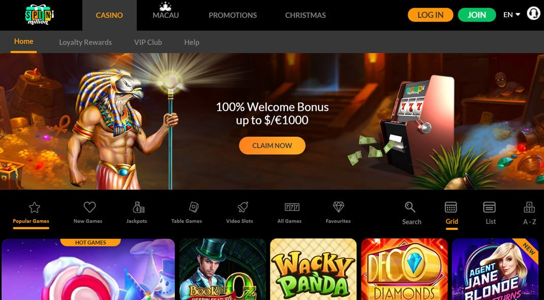 Spin Million Online Casino review