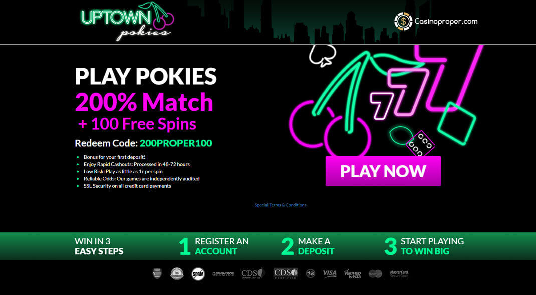 Uptown Pokies Online Casino review