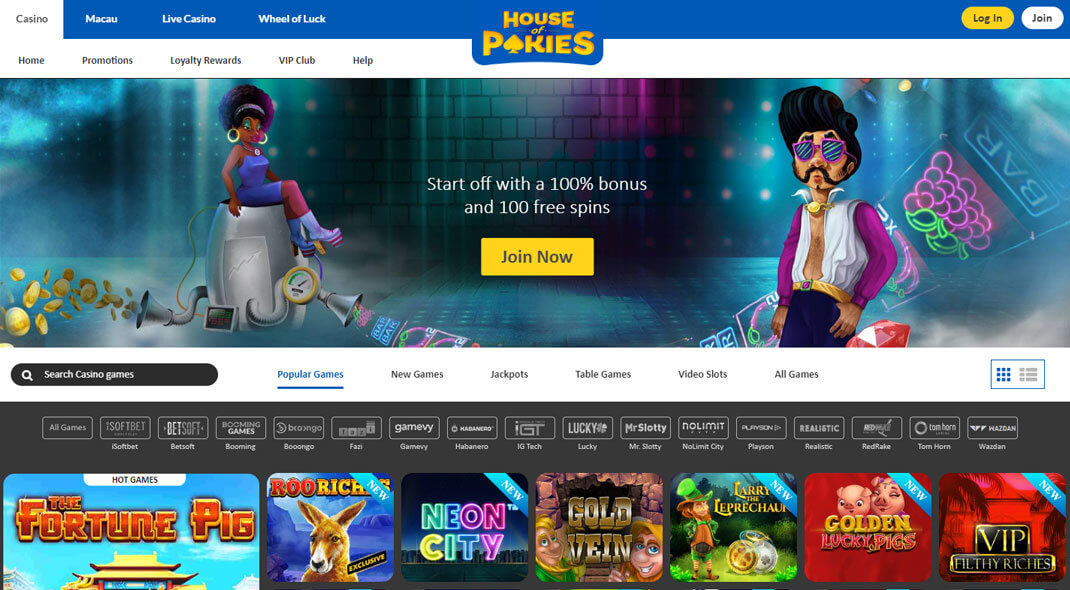 House of Pokies Online Casino review