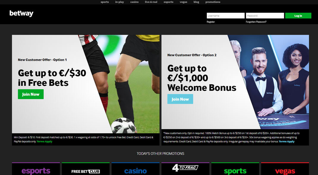 Betway Online Sportsbook review