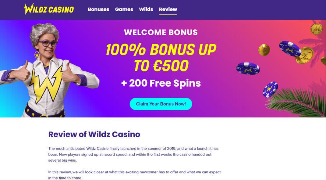 Wildz Canadian Online Casino review