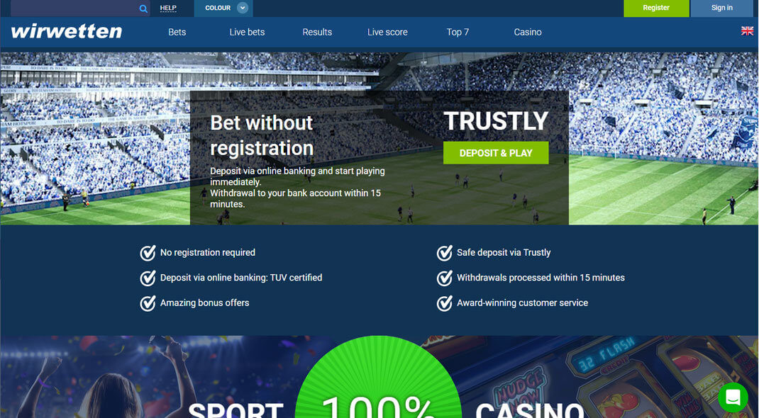 Wir Wetten Sports Betting Online Casino review
