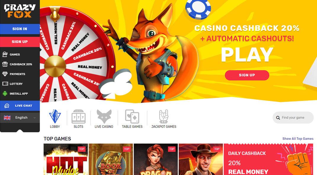 Crazy Fox Canadian Online Casino review