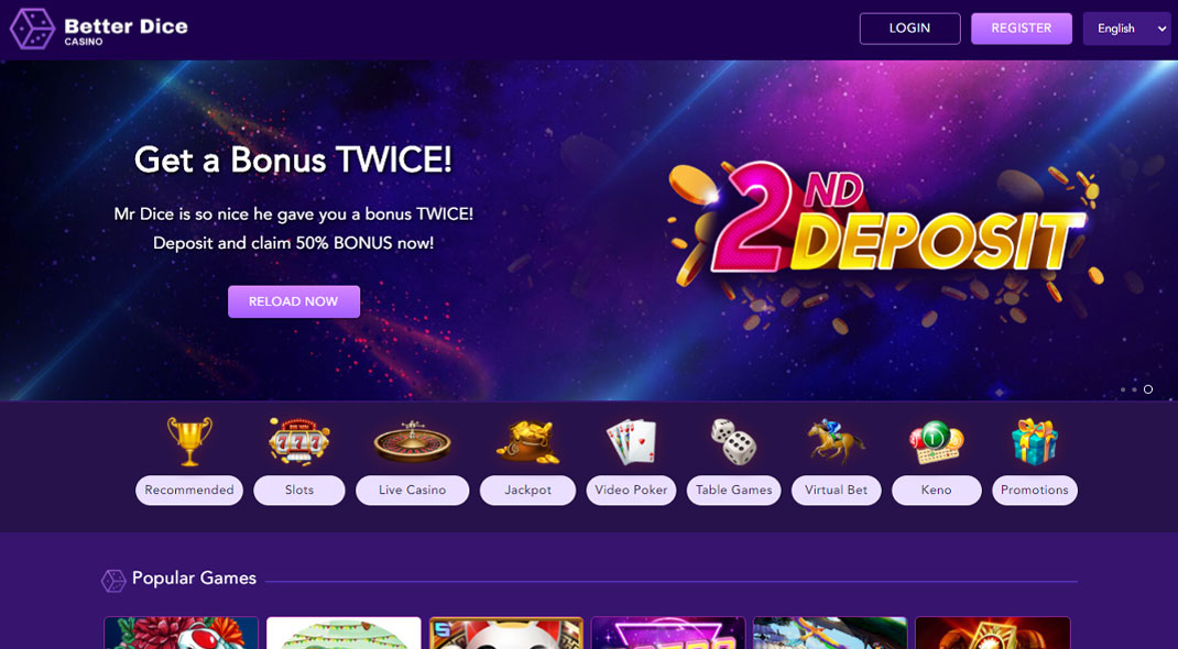 Better Dice Online Casino review