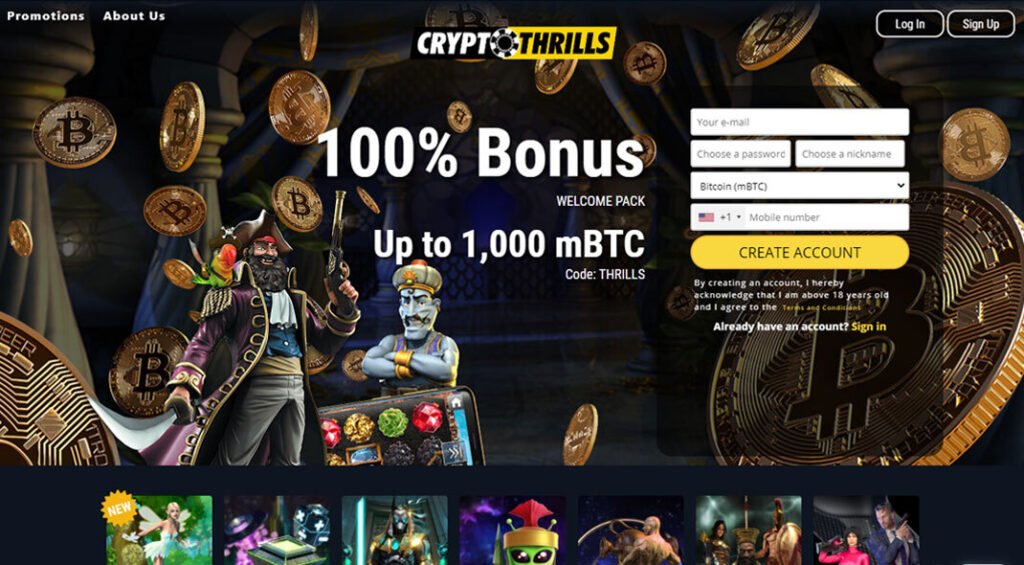CryptoThrills US Online Casino Review