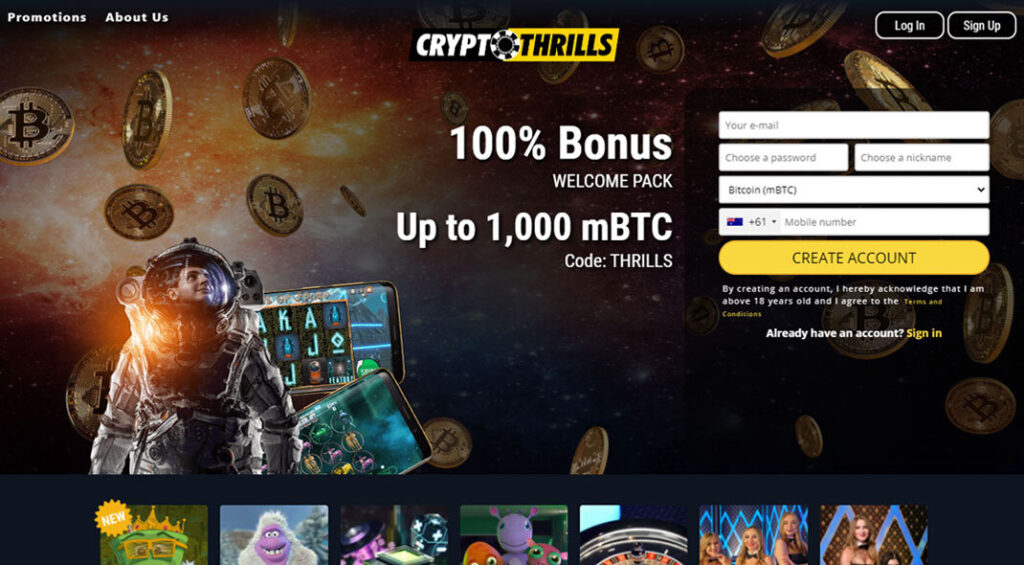 CryptoThrills Casino Australia - Review