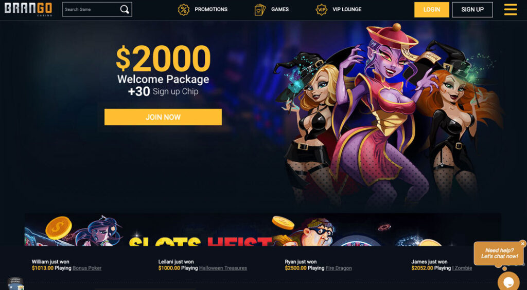 Brango Online Casino Bonus Offer